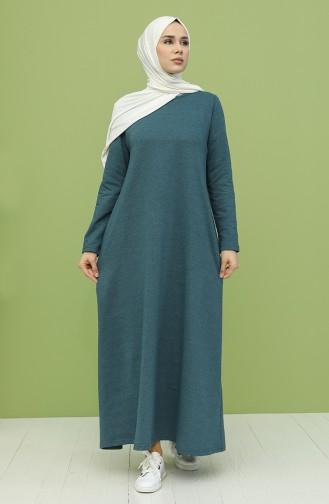 Robe Hijab Pétrole 3279-08