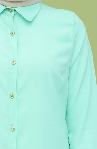 Krep Tunik 6511-11 Mint Yeşili