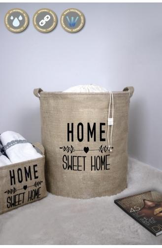 Rope Home Jüt Kumaş Home Sweet Home Baskılı 5´li Aile Seti 17-01 Bej