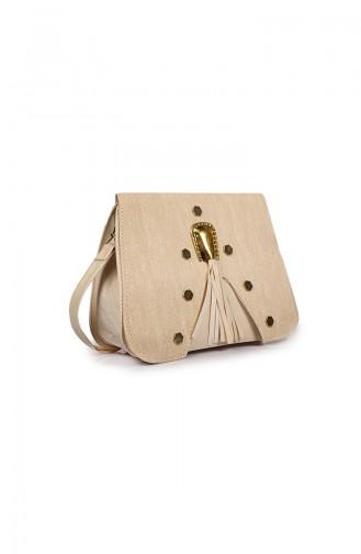Beige Shoulder Bag 04-09