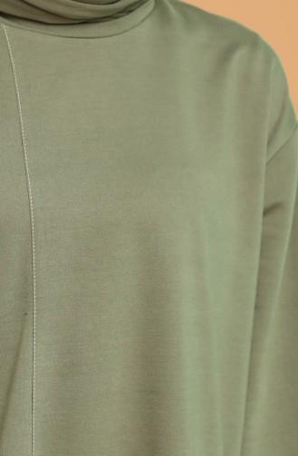 Asimetrik Eşofman Takım 3000-04 Çağla Yeşili
