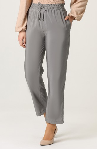 Aerobin Fabric Trousers with Pockets 0151a-09 Gray 0151A-09