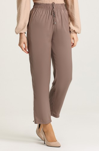 Aerobin Fabric Trousers with Pockets 0151-15 Brown 0151-15
