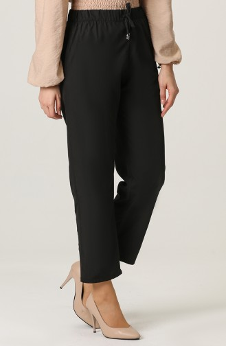 Aerobin Fabric Trousers with Pockets 0151-01 Black 0151-01