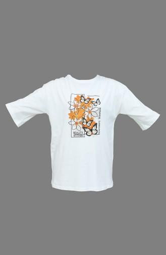 Weiß T-Shirt 0304-01