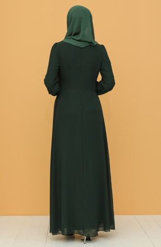 Payet Detaylı Abiye Elbise 52788-05 Yeşil 52788-05