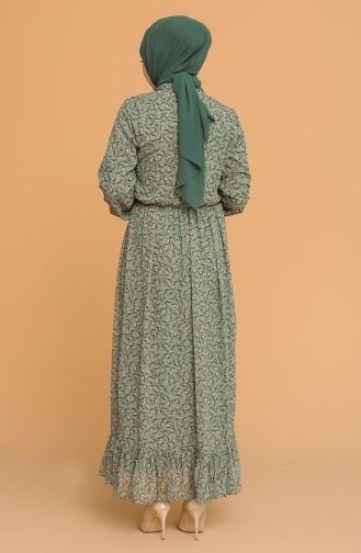 فستان كاكي 4349-03