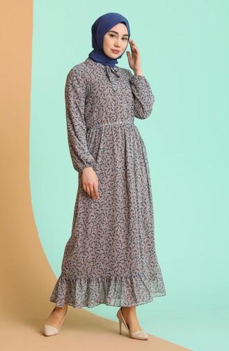 فستان ليلكي 4349-04