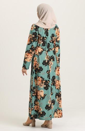 فستان أخضر 4575B-01
