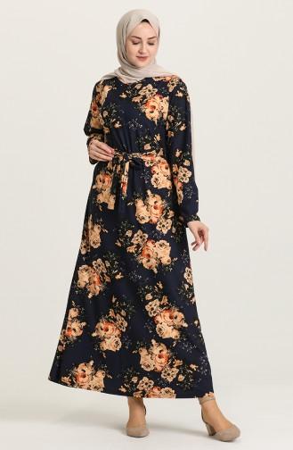فستان أزرق كحلي 4575B-02
