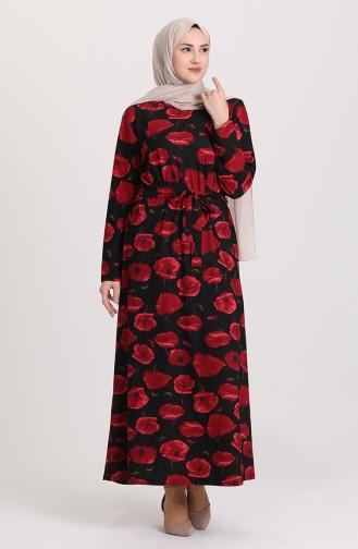 فستان أحمر كلاريت 4575C-01