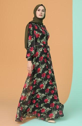 Robe Hijab Noir 4862-02