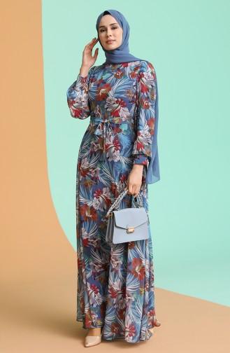 فستان نيلي 4862-A01