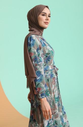 فستان أخضر 4862A-03