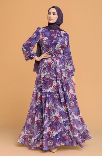 Robe Hijab Pourpre 4862A-04