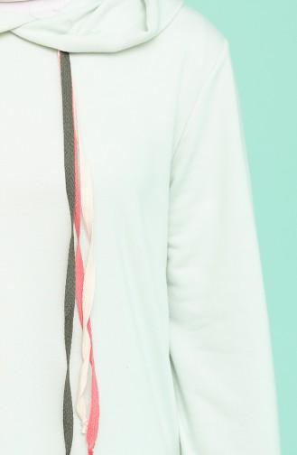 Mint Green Hijab Dress 6005-03