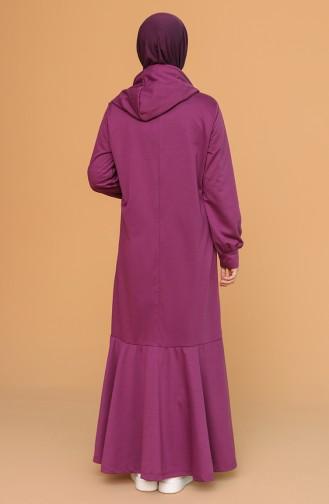 Plum Hijab Dress 6005-04