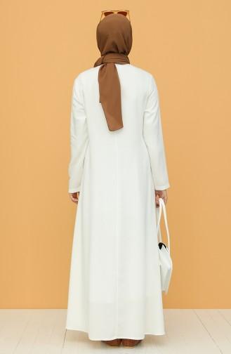 Naturfarbe Hijap Kleider 7002-06
