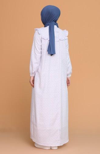 Robe Hijab Bleu clair 21Y8335-09