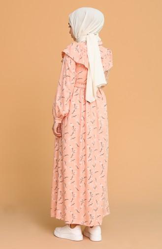 Robe Hijab Saumon Foncé 21Y8344-07