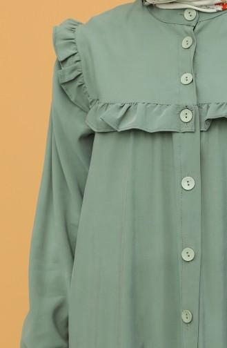 Unreife Mandelgrün Hijap Kleider 21Y8350-05