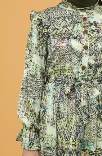 Pistaziengrün Hijap Kleider 21Y8353-02