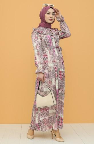Robe Hijab Fushia 21Y8353-03