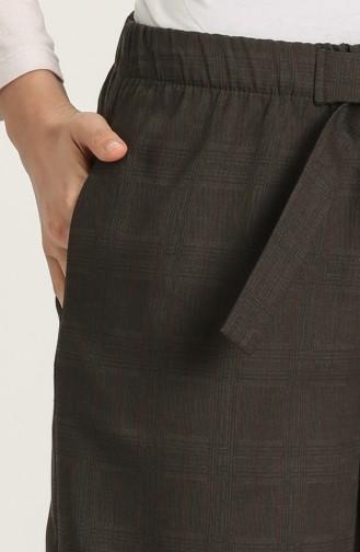 Pantalon Couleur Brun 0105A-01