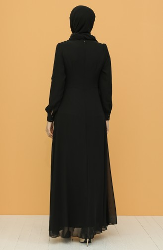 Habillé Hijab Noir 52788-02
