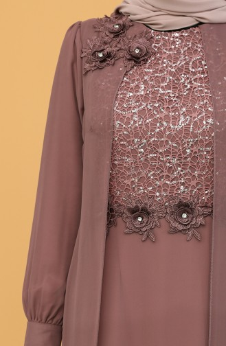 Dusty Rose İslamitische Avondjurk 52788-03