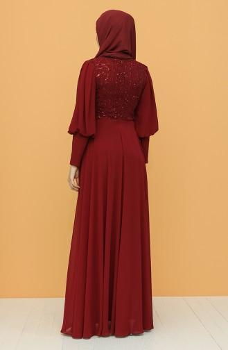 Habillé Hijab Bordeaux 4852-06