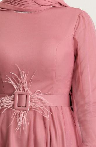 Beige-Rose Hijab-Abendkleider 4949-02