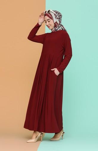 فستان أحمر كلاريت 4550-05