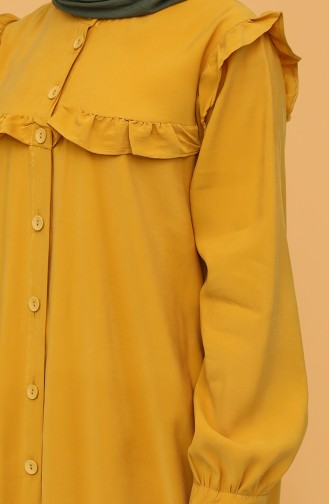 Mustard Hijab Dress 21Y8350-02