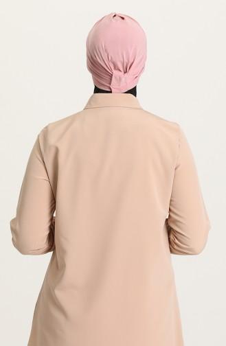 Bonnet 3 Bandes Croisées 0022-18 Rose Pâle 0022-18