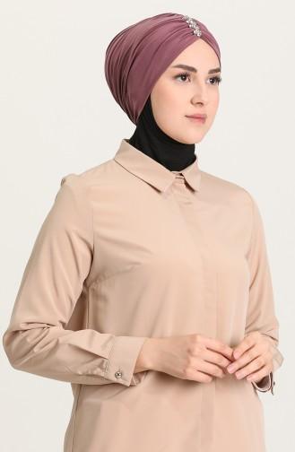 Beige-Rose Bonnet 0035-10