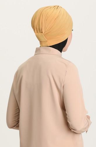 Doppelseitiger Bonnet 0028-19 Senf 0028-19
