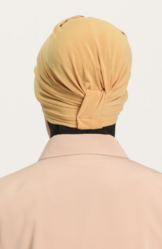 Bonnet 3 Bandes Croisées 0022-15 Jaune Foncé 0022-15