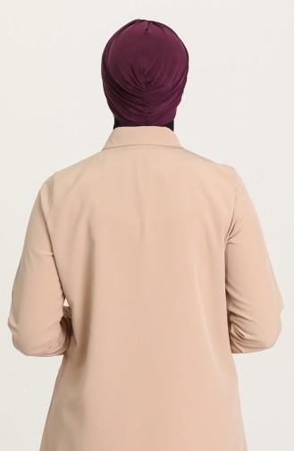 القبعات ارجواني داكن 0035-15