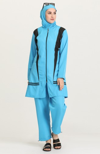 Maillot de Bain Hijab Turquoise 28169-01