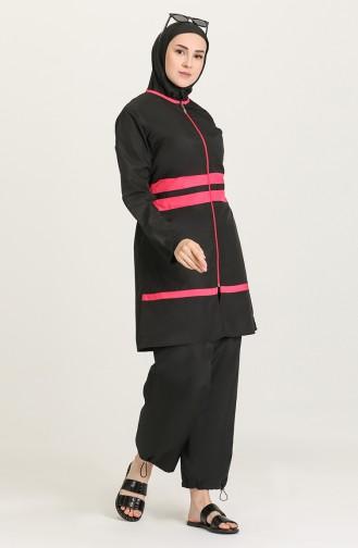 Maillot de Bain Hijab Noir 28179-01