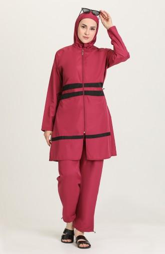 Purple Modest Swimwear 28180-01