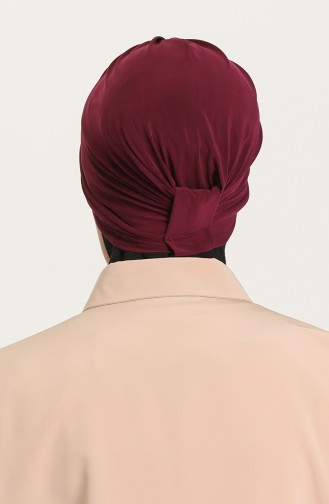 Bonnet 3 Bandes Croisées 0022-14 Cerise 0022-14