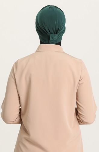 Bonnet 3 Bandes Croisées 0022-13 Vert emeraude 0022-13