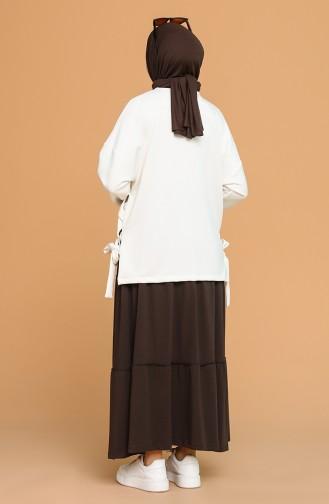 Jupe Couleur Brun 8300-01