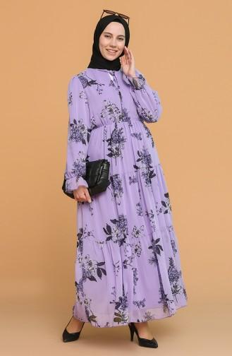 فستان ليلكي 1015-02