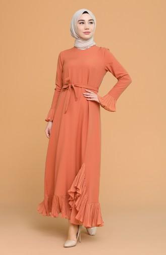 Onion Peel Hijab Dress 4125-08