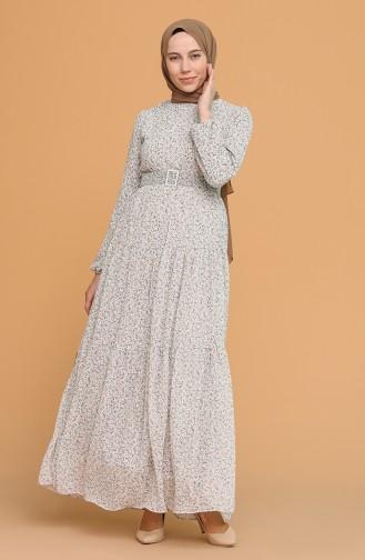 فستان رمادي فاتح 5056-06