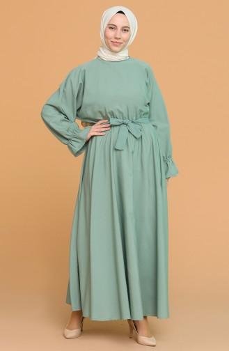 فستان أخضر فاتح 5301-09