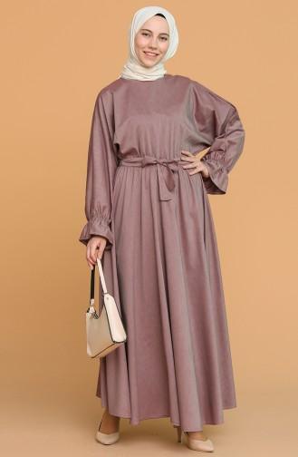 Robe Hijab Rose Pâle Foncé 5301-10